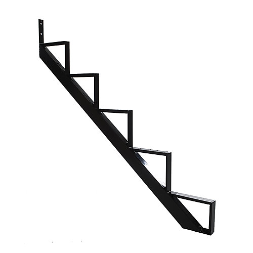 Collection 10_5 Steps Aluminium Stair Riser Black_7 1/2 in x 9 1/16 in Includes one (1) riser only