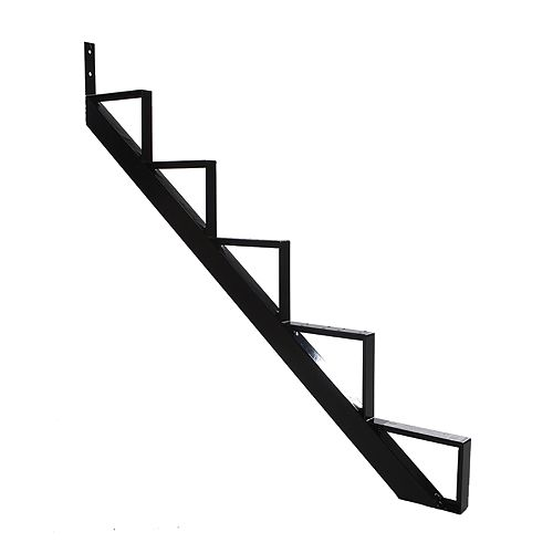 Collection 10 - 5 Steps Aluminium Stair Riser Black 7 1/2 in x 9 1/16 in Includes one (1) riser only