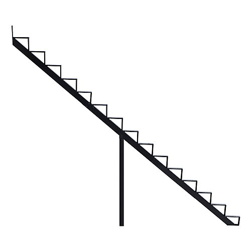 Collection 10_15 Steps Aluminium Stair Riser Black_7 1/2 in x 9 1/16 in Includes one (1) riser only