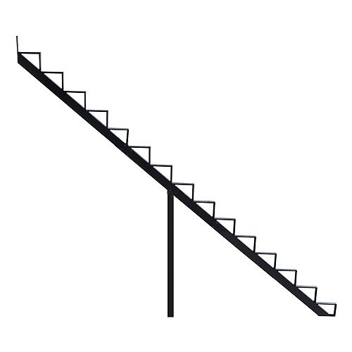 Collection 10 - 15 Steps Aluminium Stair Riser Black 7 1/2 in x 9 1/16 in Includes one (1) riser only