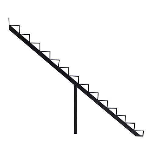 Collection 10_14 Steps Aluminium Stair Riser Black_7 1/2 in x 9 1/16 in Includes one (1) riser only