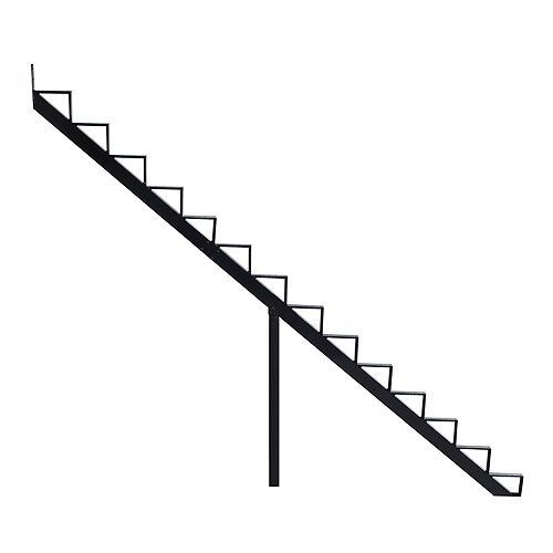 Collection 10 - 14 Steps Aluminium Stair Riser Black 7 1/2 in x 9 1/16 in Includes one (1) riser only