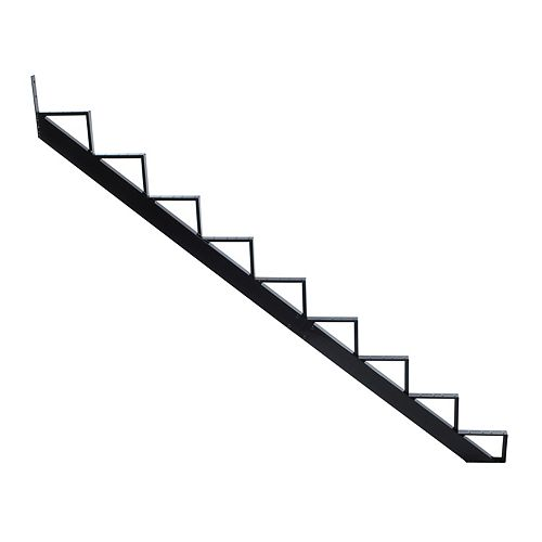 Collection 10 - 9 Steps Aluminium Stair Riser Black 7 1/2 in x 9 1/16 in Includes one (1) riser only