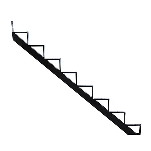 Collection 10_8 Steps Aluminium Stair Riser Black_7 1/2 in x 9 1/16 in Includes one (1) riser only