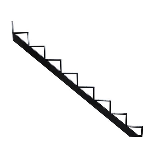 Collection 10 - 8 Steps Aluminium Stair Riser Black 7 1/2 in x 9 1/16 in Includes one (1) riser only