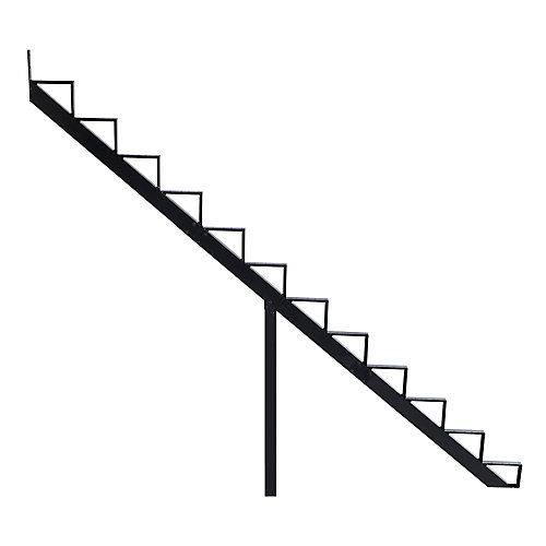 Collection 10_12 Steps Aluminium Stair Riser Black_7 1/2 in x 9 1/16 in Includes one (1) riser only