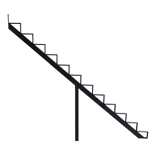 Collection 10 - 12 Steps Aluminium Stair Riser Black 7 1/2 in x 9 1/16 in Includes one (1) riser only