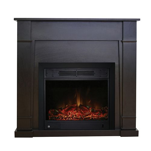 Wilson Electric Fireplace in Dark Brown