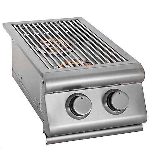 Double brûleur latéral encastrable au propane de 24000BTU pour lextérieur DLX Premium de Broil Chef
