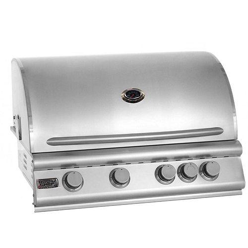 Barbecue encastrable au gaz naturel et à convection à quatre brûleurs Premium de Broil Chef avec brûleur arrière infrarouge