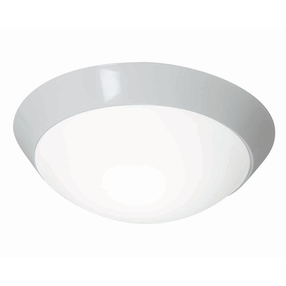 Filament Design Vista 2 Light White CFL Flush Mount with Opal Glass