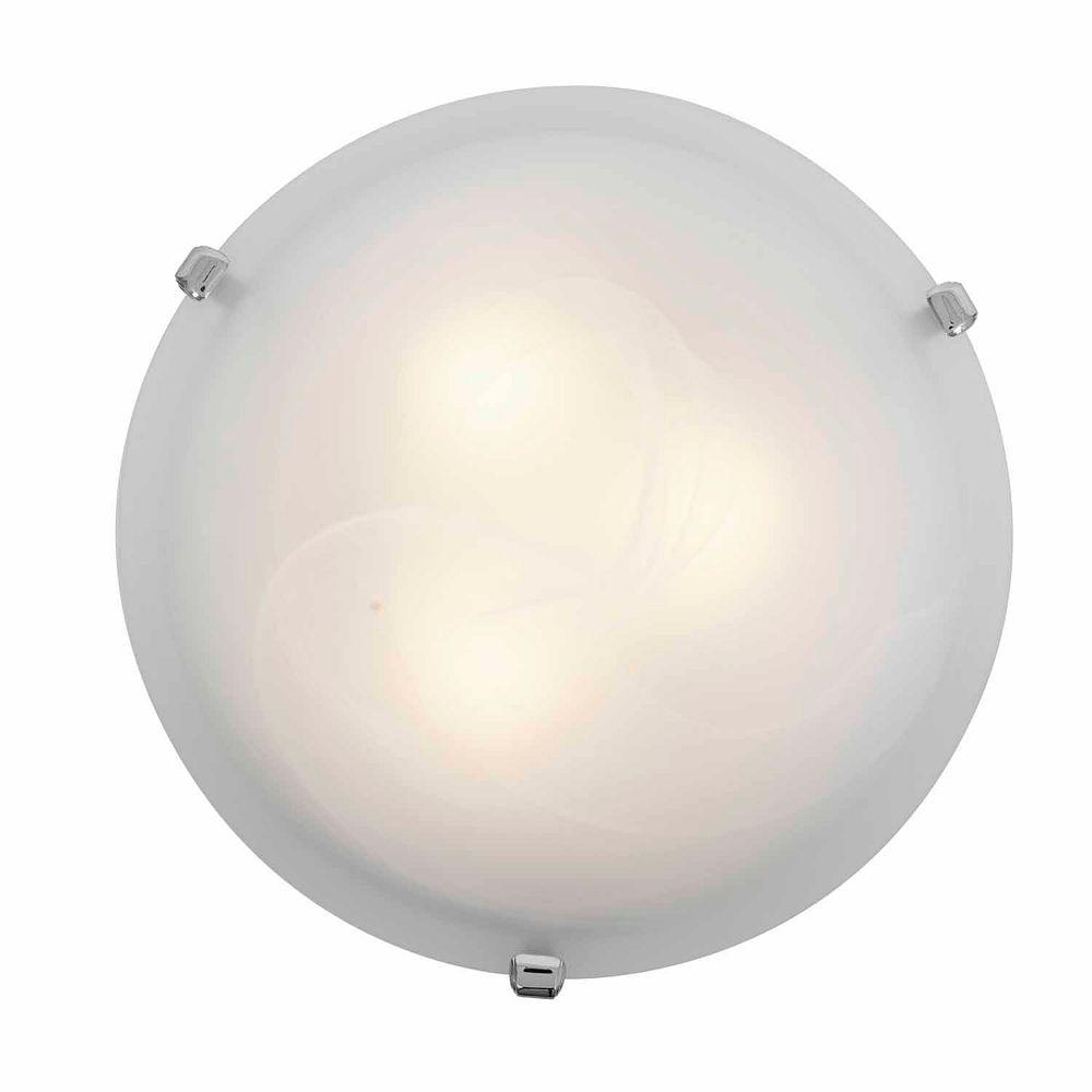 Filament Design Plafonnier avec abat-jour blanc couleur en argent