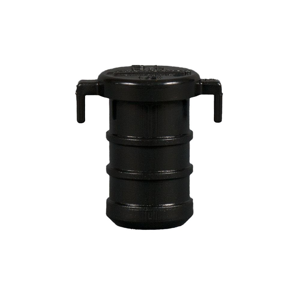 Jag Plumbing Products 1/2 Inch Pex Acetal Test Plug - Black (25-Pack)