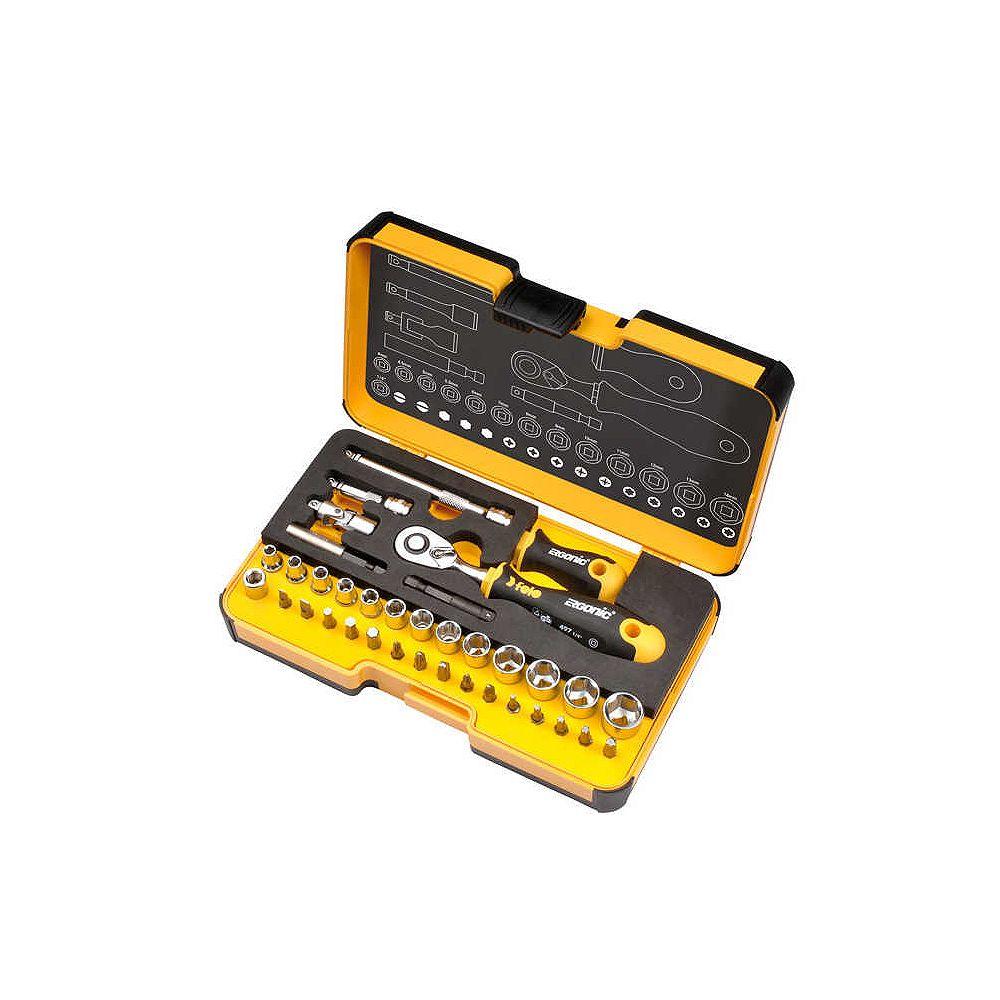 Felo R-GO  Inch Ergonic Ratchet - Stubby - Multi-Tools Set
