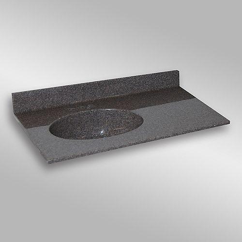 Malibu 37-Inch W x 22-Inch D Granite Left-Hand Basin Vanity Top in Mystique