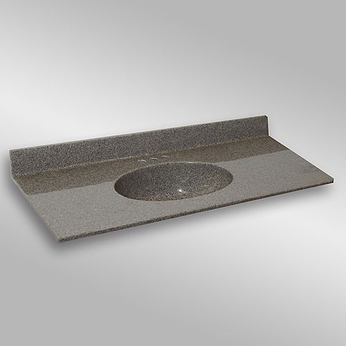 Malibu 49-Inch W x 22-Inch D Granite Centre Basin Vanity Top in Carioca Stone