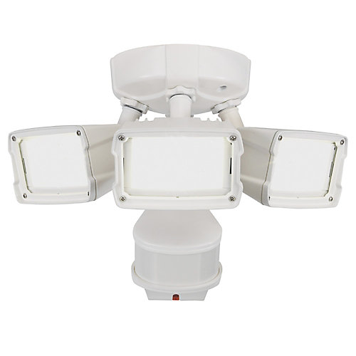 180W 270 LED Security Light in White with Triple Motion Doppler Sensor