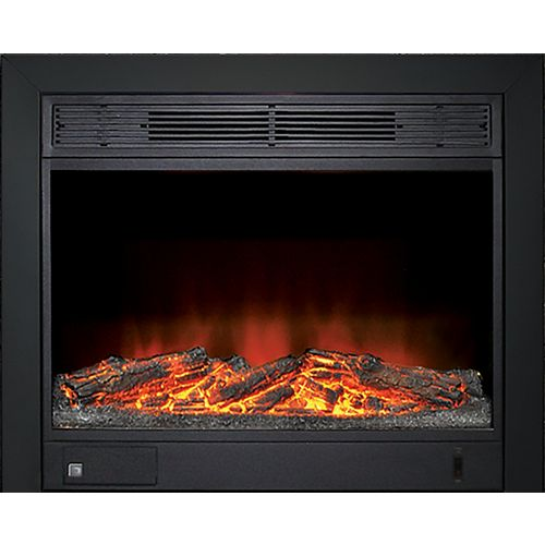 23-inch Electric Fireplace Insert with Black Integrated 3-sided Trim Kit