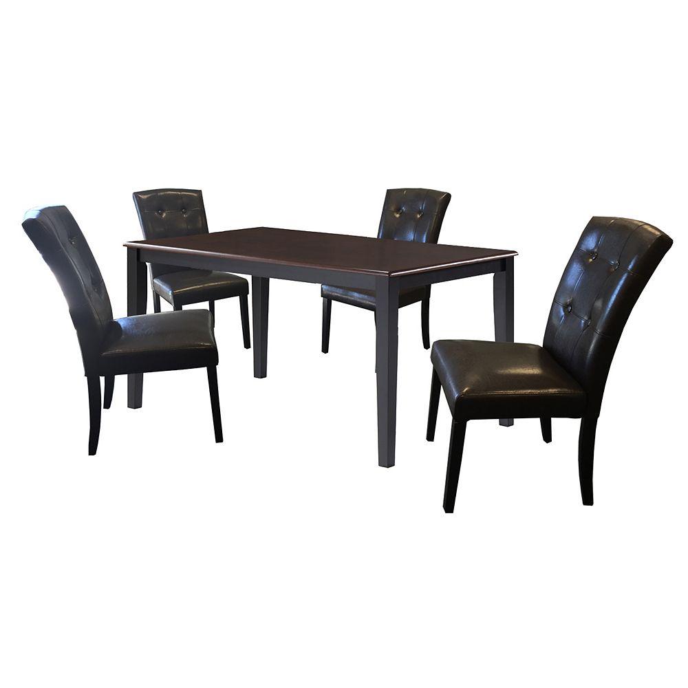DURAWOOD Soild Bois Top Dining Set de Table (Set of 5)