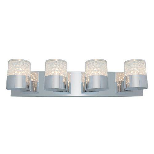 Vista Lumière fixée au mur avec abat-jour clair couleur en argent