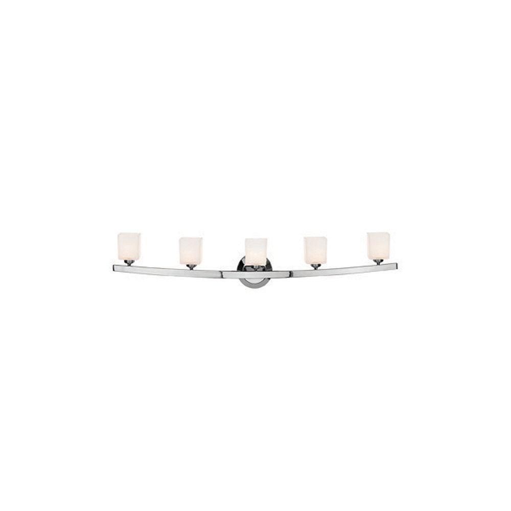 Filament Design Vista 5 Light ChromeHalogen Wall Sconce with OpalGlass