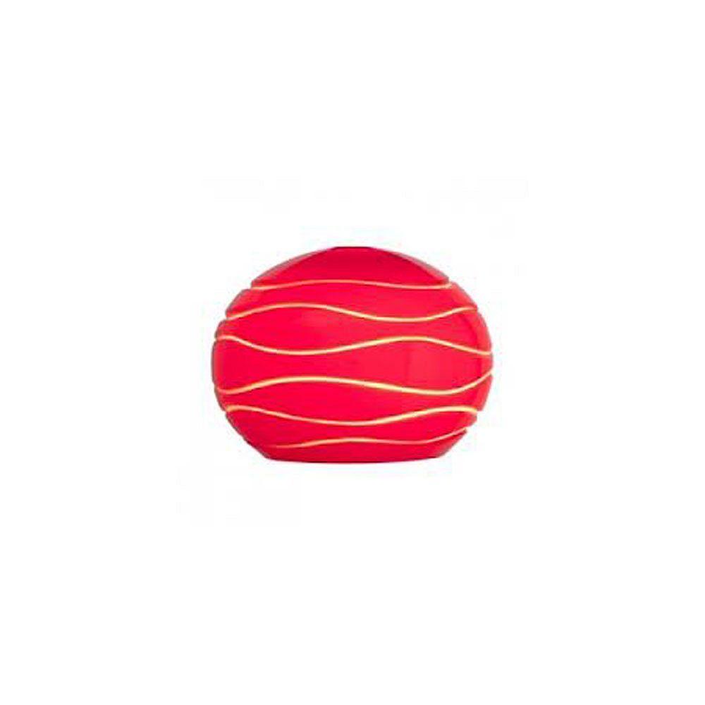Filament Design Vista 5.35 Inch Red LinedGlass Shade
