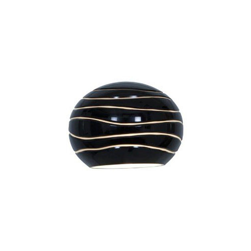 Filament Design Vista 5.35 Inch Black LinedGlass Shade