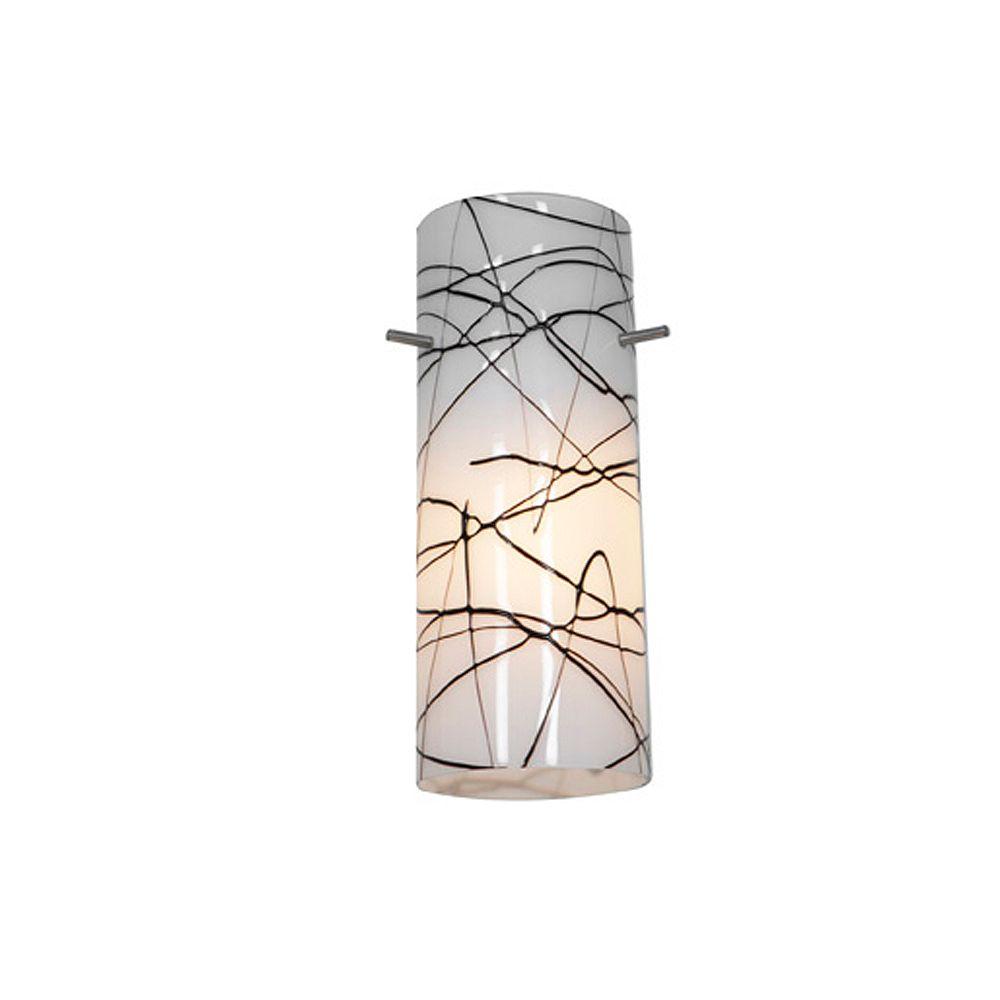 Filament Design Vista 19.64 Inch Black WhiteGlass Shade