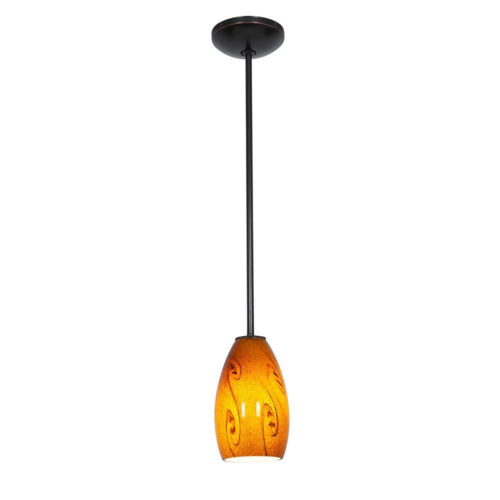 Filament Design Vista Lumière accrochante avec abat-jour de spécialité couleur en bronze