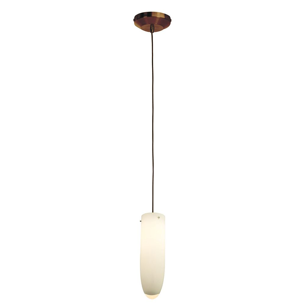 Filament Design Vista 1 Light Bronze Halogen Pendant with White Teardrop Glass