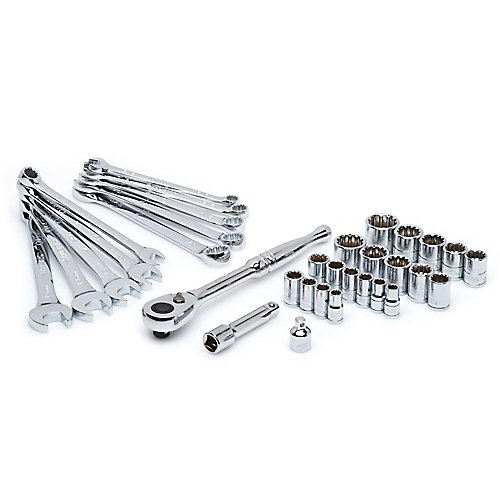 1/4-inch and 3/8-inch Drive Universal Mechanics Tool Set (33-Piece)