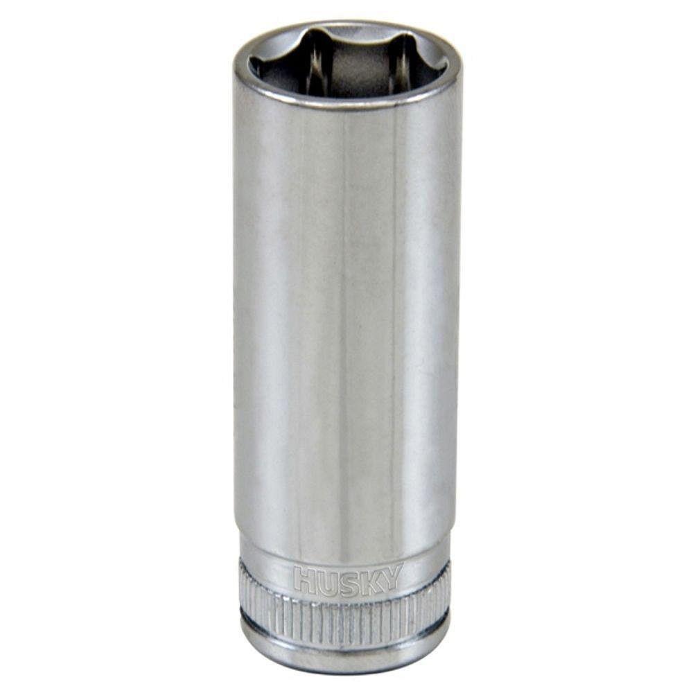 Husky 1/4-inch Drive 14 mm Metric Deep Socket 6-Point