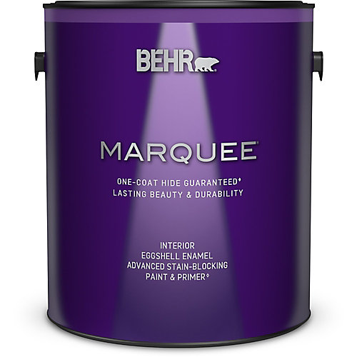Marquee 3.7 L Medium Base Eggshell Enamel Interior Paint with Primer