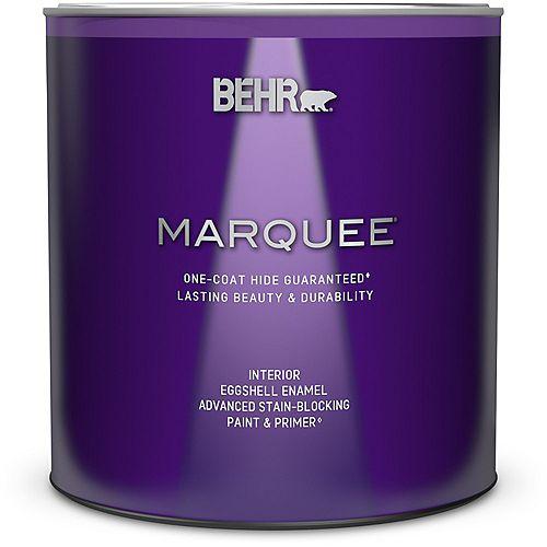 Peinture et apprêt en un MarqueeMD dintérieur avec fini émail coquille dœuf et base moyenne (939ml)