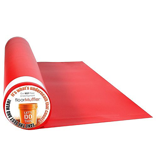 floorMuffler UltraSeal 100 sq. ft. 4 ft x 25 ft  x 0.08 inch