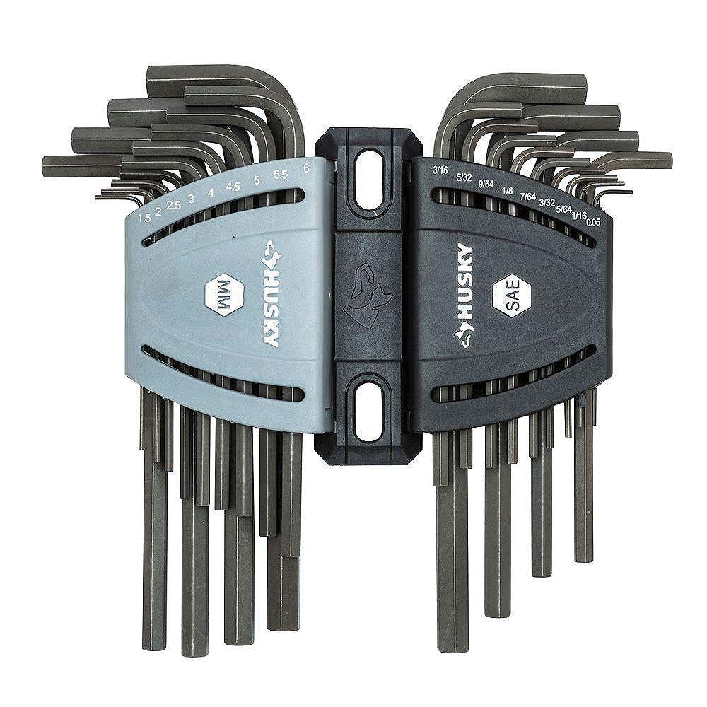 Husky SAE/Metric Long Arm Hex Key Set (26-Piece)