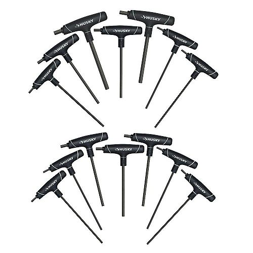 SAE/Metric T-Handle Hex Key Set (14-Piece)