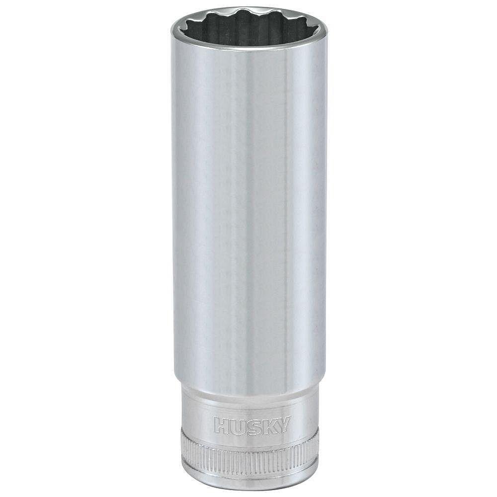 Husky 1/2-inch Drive 18 mm 12-Point Metric Deep Socket