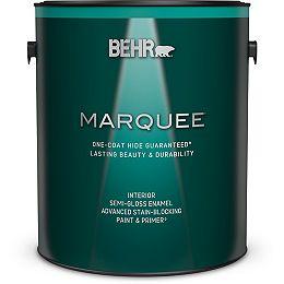 Interior Semi-Gloss Enamel Paint & Primer - Ultra Pure White, 3.79L