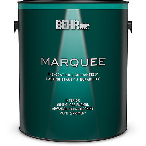 Marquee 3.7 L Medium Base Semi Gloss Enamel Interior Paint with Primer