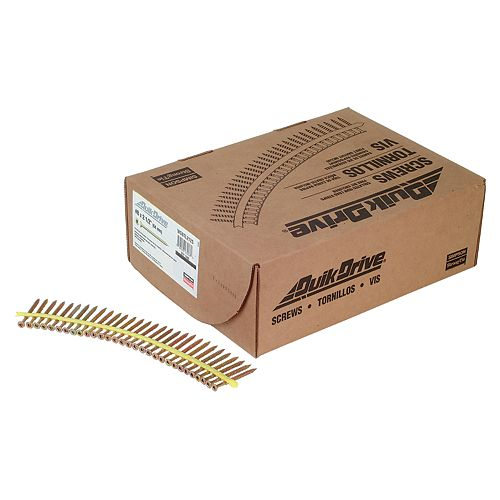 Strong-Drive WSNTL SUBFLOOR Screw (Collated)  8 x 2-1/2 inch 3 SQ Flat-Head (1500-Qty)