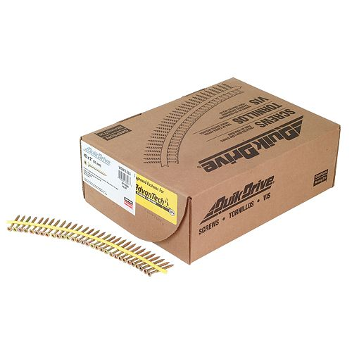 Strong-Drive WSNTL SUBFLOOR Screw (Collated)  8 x 2 inch 3 SQ Flat-Head (2000-Qty)