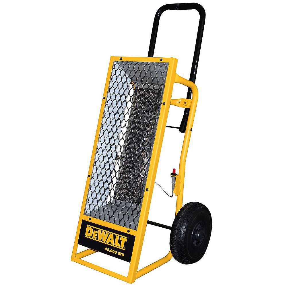 DEWALT Portable Radiant Propane Heater 45,000 Btu F340620