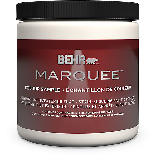 Marquee 8 oz Medium Base Matte Interior Paint Sample with Primer