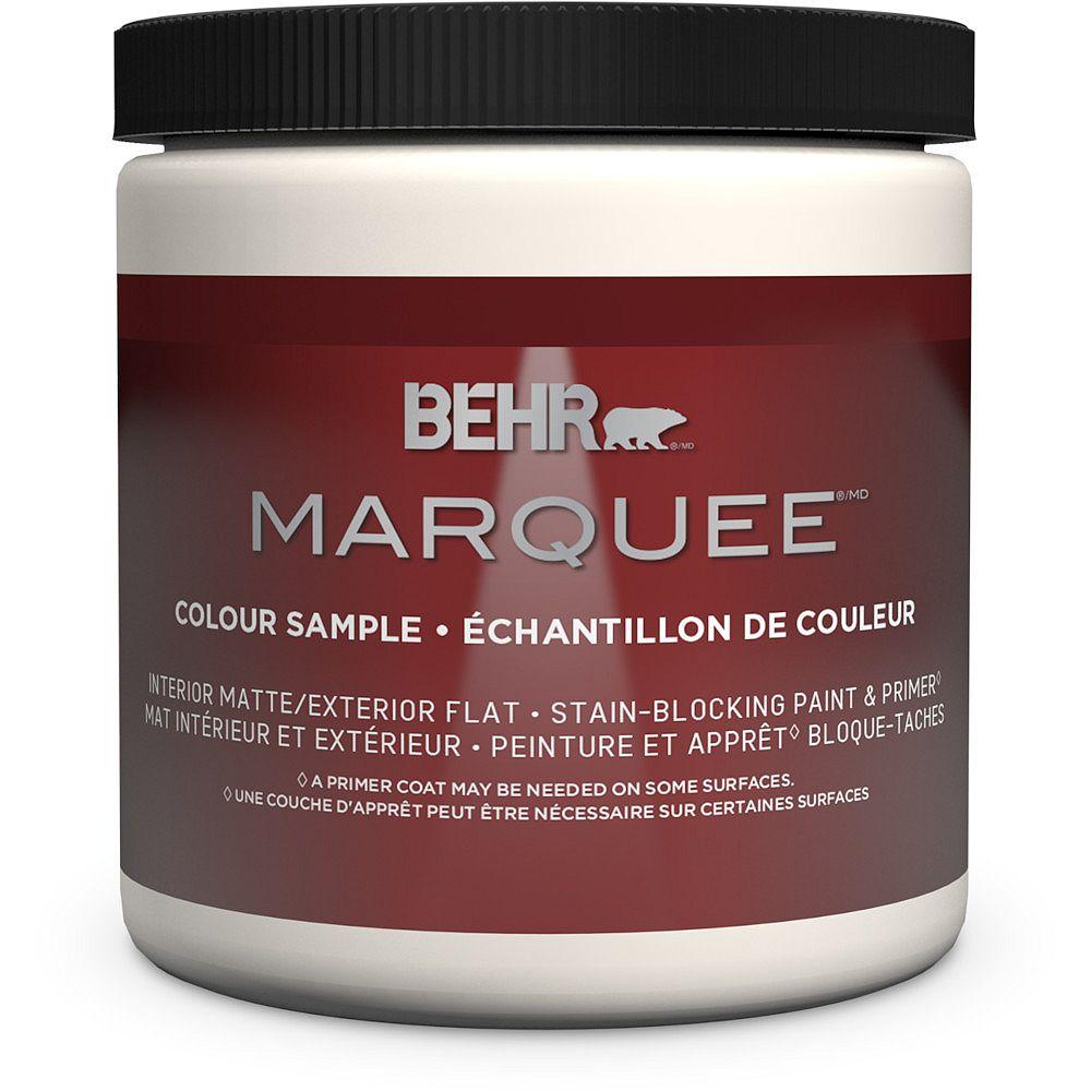 Behr Marquee Peinture et apprêt en un MarqueeMD dintérieur avec fini mat et base foncée  Format échantillon de 236,6 ml (8 oz)