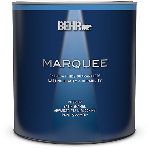 Marquee 939 mL Medium Base Satin Enamel Interior Paint with Primer