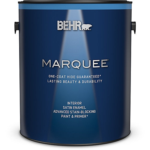 Marquee 3.7 L Medium Base Satin Enamel Interior Paint with Primer