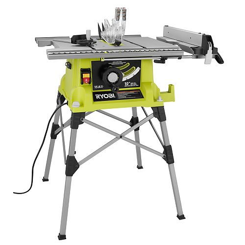 10-inch Portable Table Saw with Quick Stand