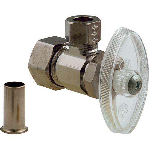 Angle Valve 1/2 Inch Nominal Compression X 3/8 Inch Od Compression With Insert