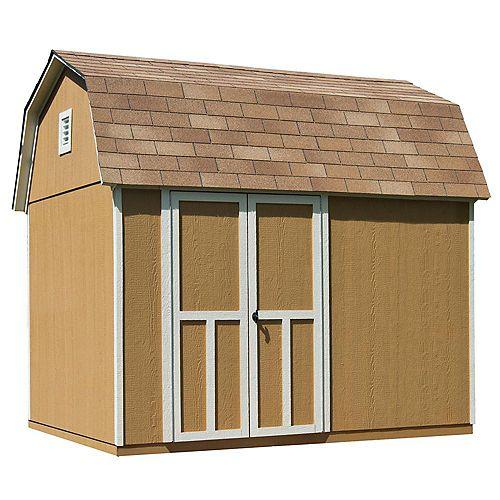 Remise Briarwood avec plancher, 10 pi x 8 pi, bois